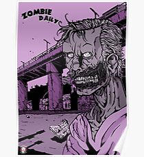 Zombie Daily - Smile/Purple Poster