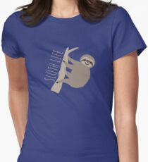 Sloth Life - Happy Lazy Sloth on Tree Women's Fitted T-Shirt