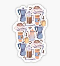 Coffee Love on Yellow Sticker