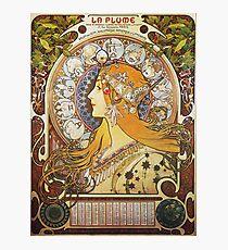 Alphonse Mucha - Ca La Plumezodiac Photographic Print