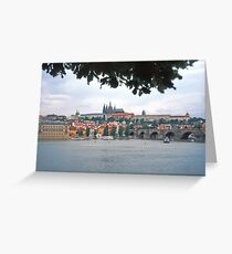 View across the river towards the Castle, Prague Greeting Card