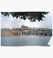 View across the river towards the Castle, Prague Poster
