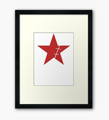 Zoro Crimin Star Framed Print