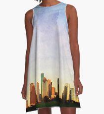 Houston Skyline A-Line Dress