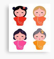 Colorful Geisha characters : original Artworks Metal Print