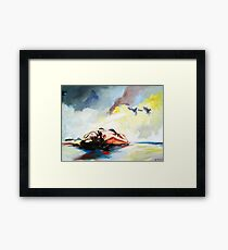 Summertime (day at the beach) Framed Print
