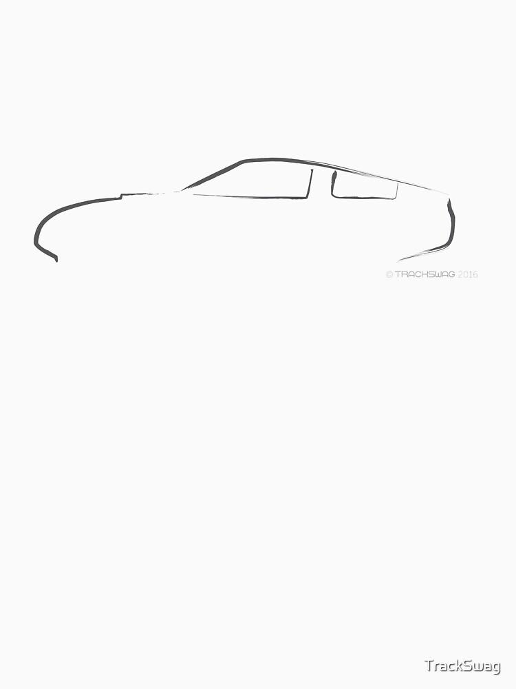 Profile Silhouette Alfa Giulia TZ - black by TrackSwag