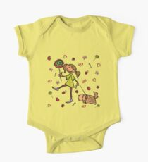 Funny girl with dog!  Kids Clothes
