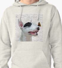 English Bull Terrier & Butterfly Pullover Hoodie