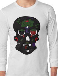 Gothic Sugar Skull Long Sleeve T-Shirt