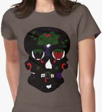 Gothic Sugar Skull Womens Fitted T-Shirt