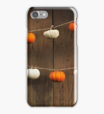 String of Pumpkins iPhone Case/Skin