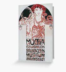 Alphonse Mucha - Mucha Exhibition Greeting Card