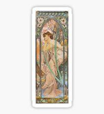 Alphonse Mucha - Reverie Du Soirevening Reverie Sticker