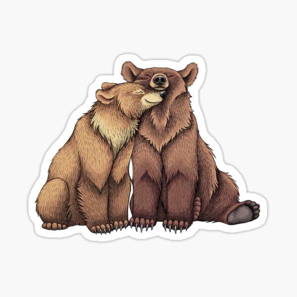 Bear Couple Sticker