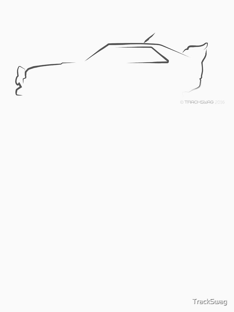 Profile Silhouette Audi Quattro S2 - black by TrackSwag