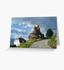 St. Olaf church - Balestrand - Norway Greeting Card