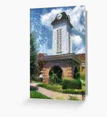 Clock Tower on the Square in Downtown Franklin Greeting Card
