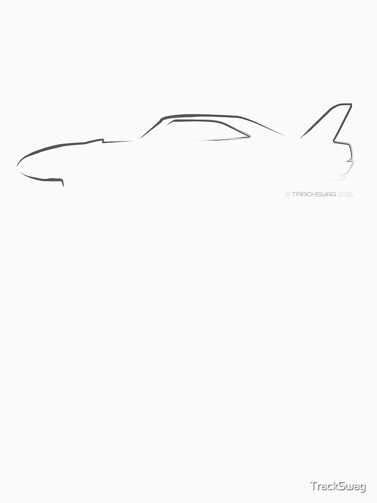Profile Silhouette Dodge Charger Daytona - black by TrackSwag
