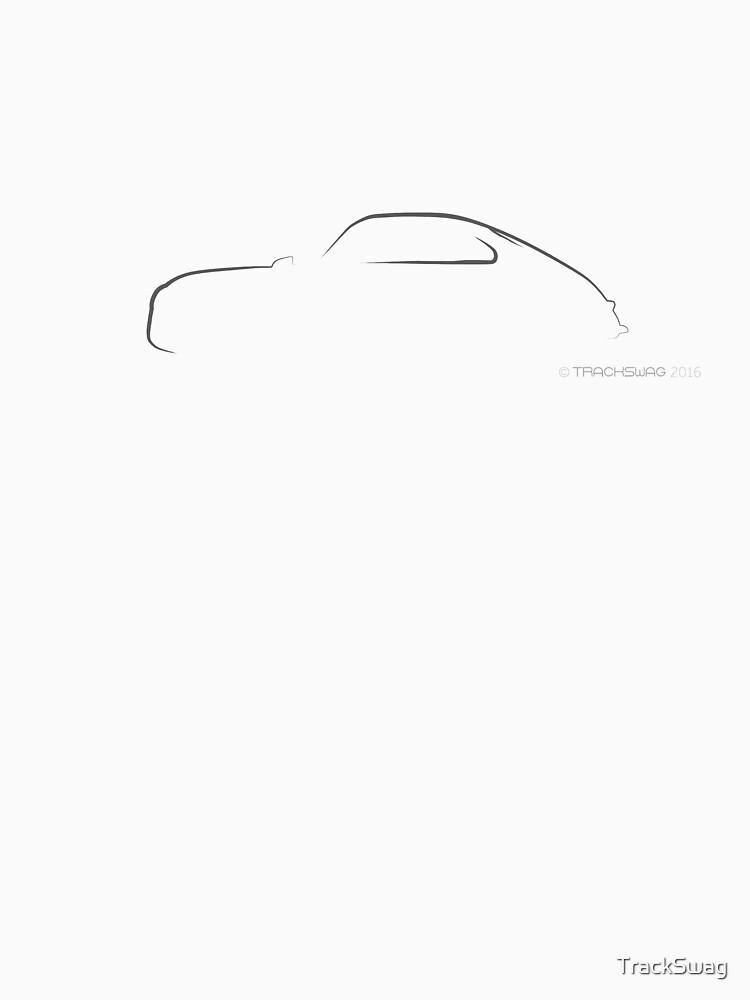 Profile Silhouette Porsche 356 - black by TrackSwag