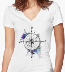 Not all those who wander are lost Women's Fitted V-Neck T-Shirt