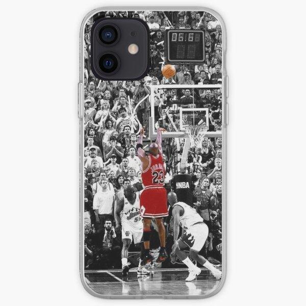 Michael Jordan Final Shot Over Russell iPhone Soft Case