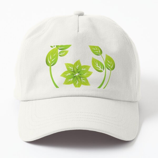 Green Leave Graphic Dad Hat