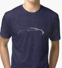 Profile Silhouette Porsche 911RS - white Tri-blend T-Shirt