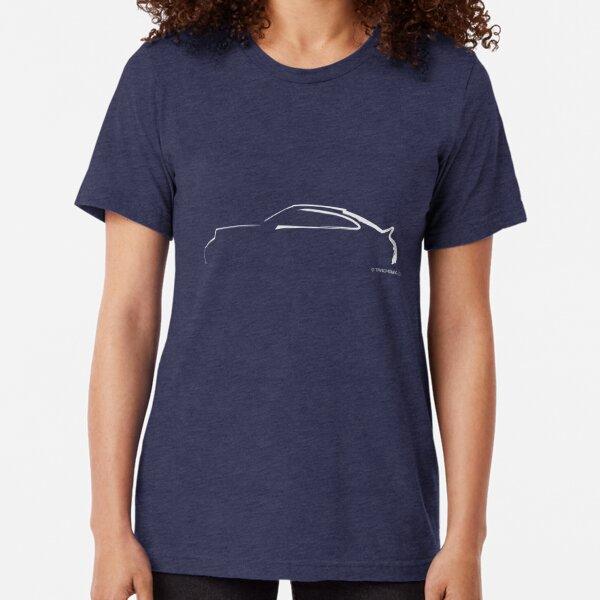 Profil Silhouette Porsche 911RS - Weiß Vintage T-Shirt