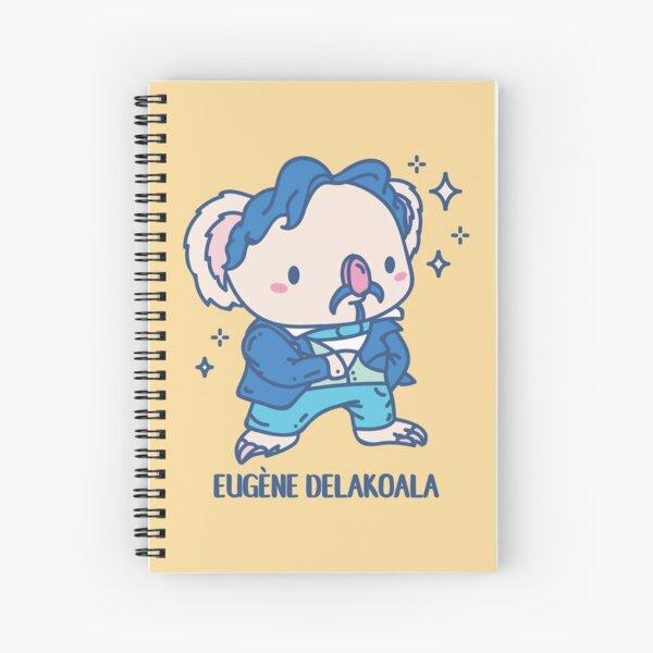 Eugène Delakoala Funny Animal pun  Spiral Notebook