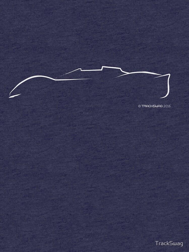 Profile Silhouette Ferrari P4 - white by TrackSwag