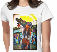 Longboard Girl  Womens Fitted T-Shirt