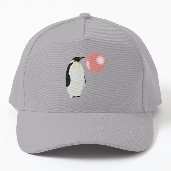 Bubble Gum Penguin Blowing Bubble  Baseball Cap