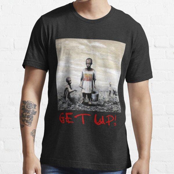 Banksy children tshirt graff GET UP! (Red Font) Essential T-Shirt