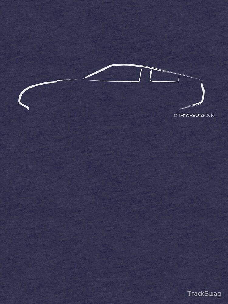 Profile Silhouette Alfa Giulia TZ - white by TrackSwag