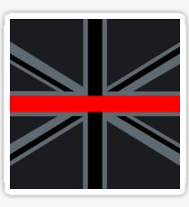 Firefighters Red Line Union Jack Sticker