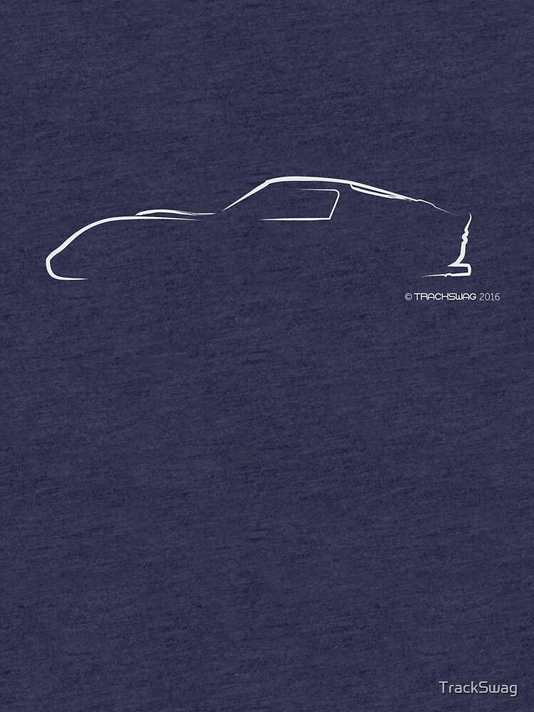 Profile Silhouette Ferrari GTO - white by TrackSwag
