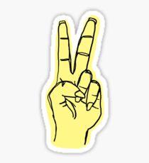 Friedenshand - Gelb Sticker