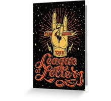 League of Letters Greeting Card