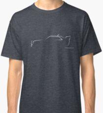 Profile Silhouette Audi Quattro S2 - white Classic T-Shirt