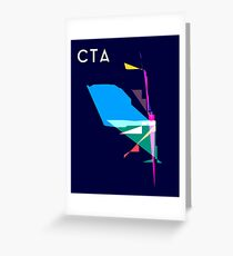 Abstract CTA Train Lines Greeting Card