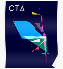 Abstract CTA Train Lines Poster