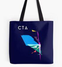 Abstract CTA Train Lines Tote Bag