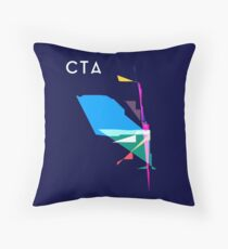 Abstract CTA Train Lines Throw Pillow