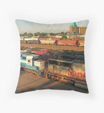 Railroad Yard Throw Pillow