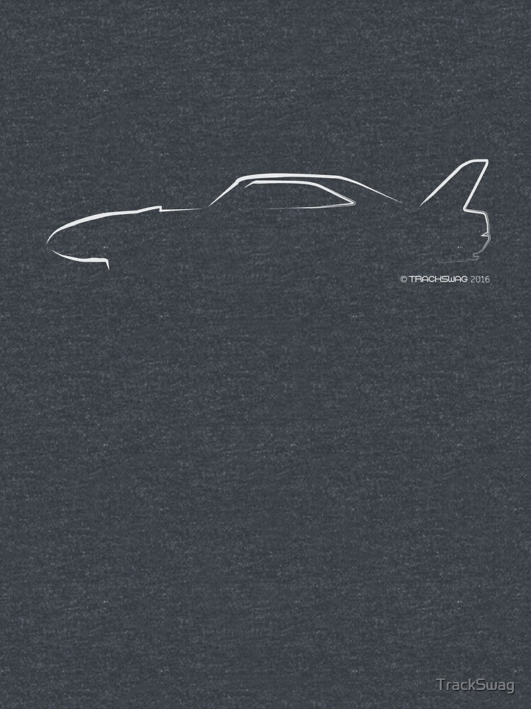 Profile Silhouette Dodge Charger Daytona - white by TrackSwag