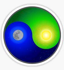 Yin Yang Flat Earth Sticker