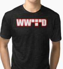 What Would Tron Do? [Red Ver.] Tri-blend T-Shirt