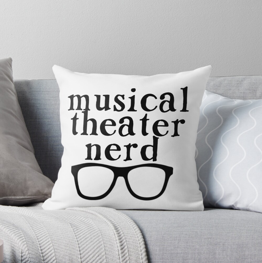 Nerd de teatro musical Cojín