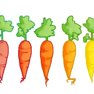 Cartoon Carrot Gradient  by littledemeter